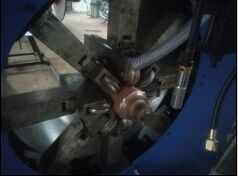 Round Light Pole Shut & Welding Machine