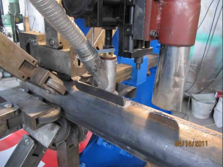 Flag Pole Shut and Welding Machine Use SAW Wleding